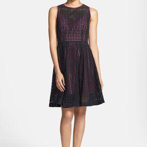 'Prism' Eyelet Cotton Fit & Flare Dress